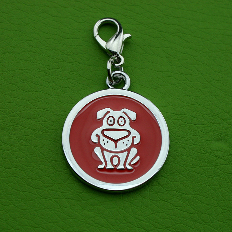 Gyári fém cink ötvözet kézi címke QR kód kisállat címkék kutyának vagy macskának