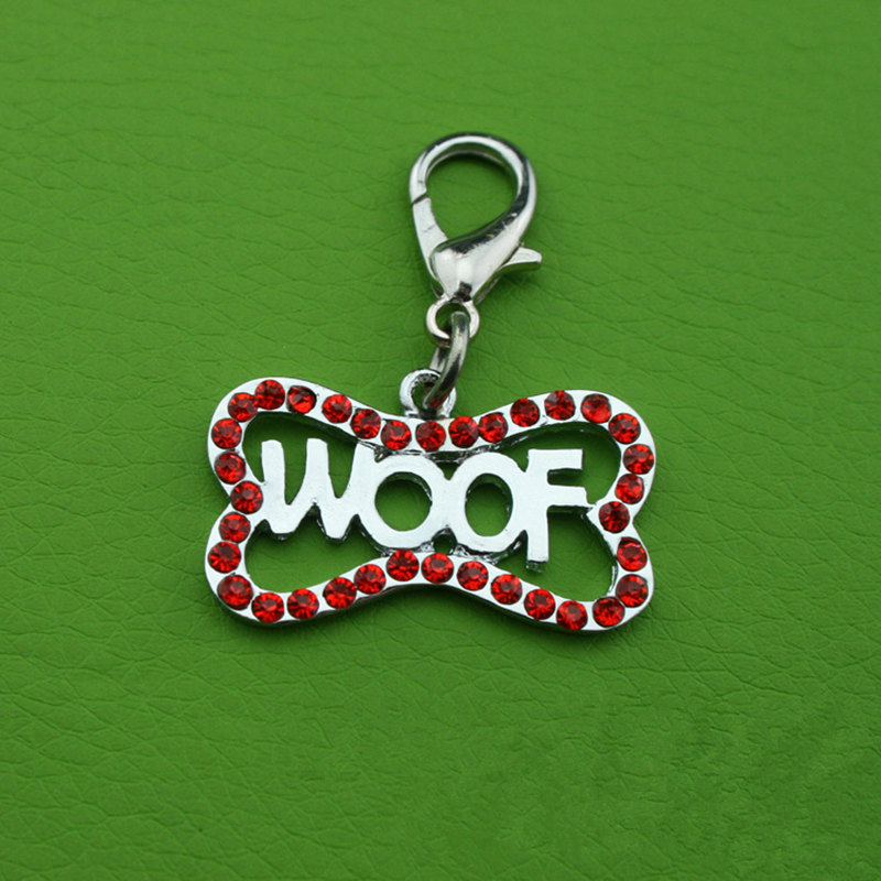 Pet dísz tartozékok Kutya medál fúró kutya csont Pet tag dekoráció