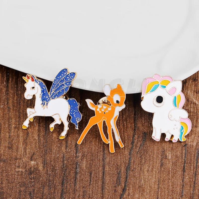 van fém rajzfilm - cink ötvözettel multi-color sütni állati jelvényt festék és aranyozott melltű és melltűt pecsét