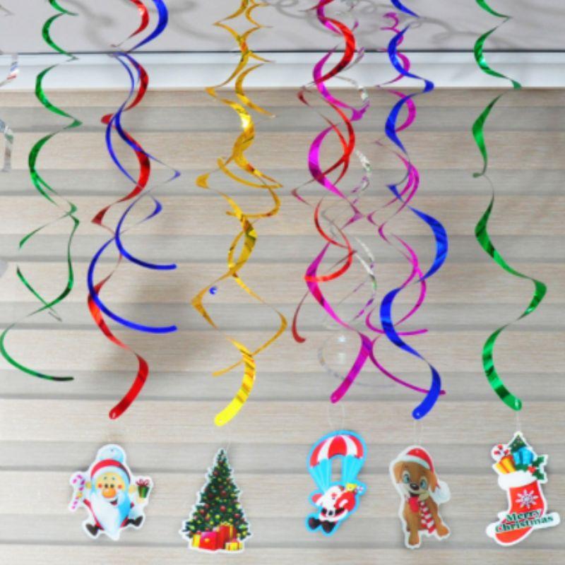 Club Party dekorációk arany fólia mennyezeti kavarog függő dekorációk