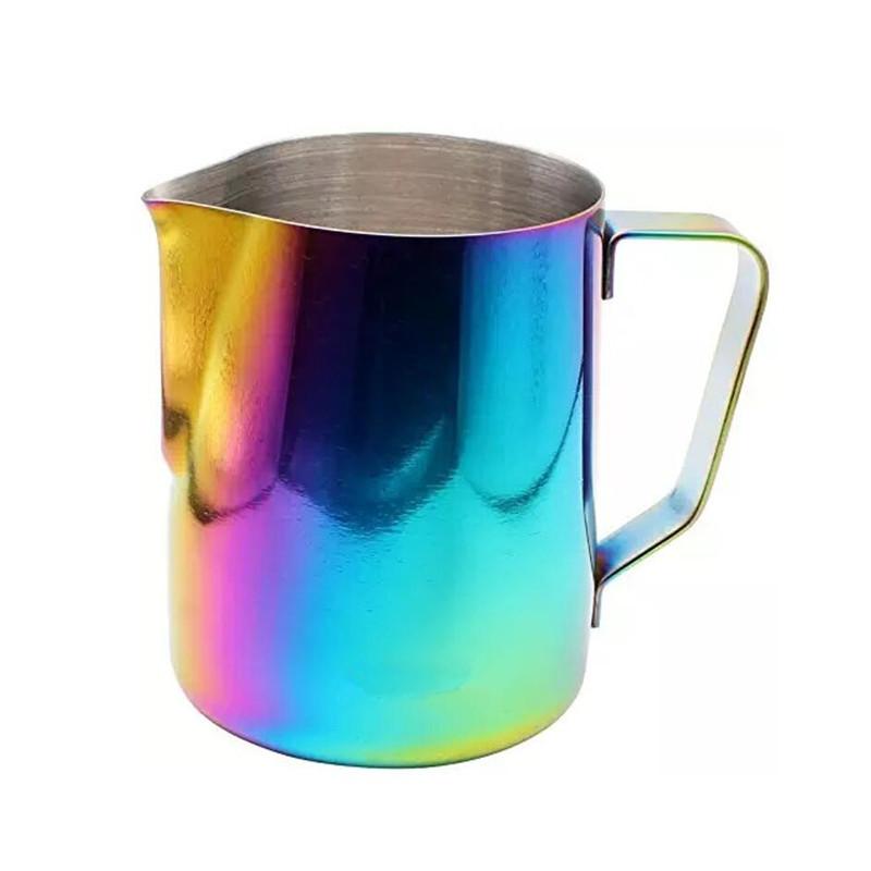 14 kapacitású klasszikus rozsdamentes acél eszpresszó habosító tejkannák a latte art készítéséhez