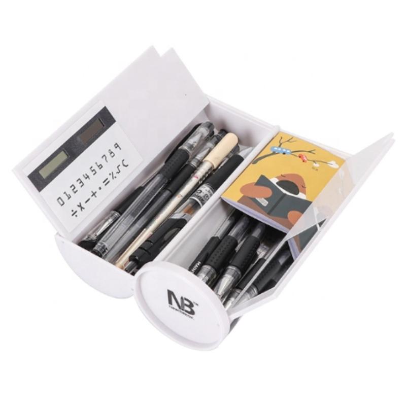 Irodaszerek többszínű, kétrétegű ceruza tok