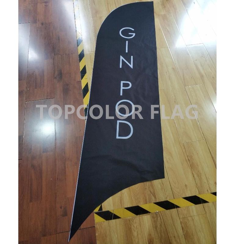 Reklám kültéri toll zászló