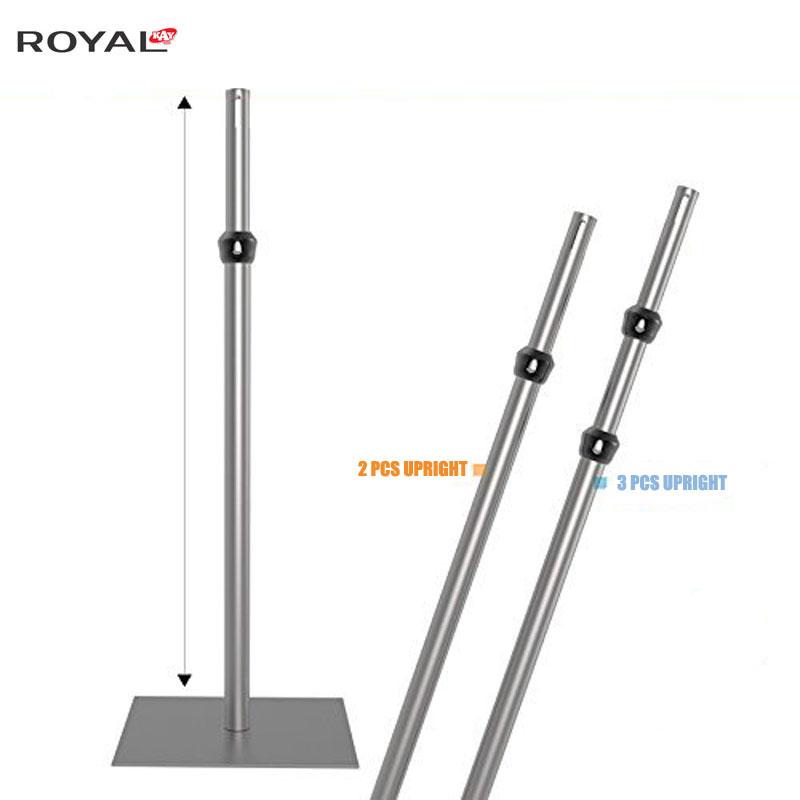 Csövek és kárpitok állítható Upright 5ft-8ft