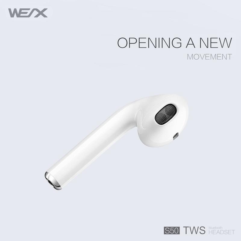 WEX S50 TWS fülhallgató, valódi vezeték nélküli sztereó fülhallgató