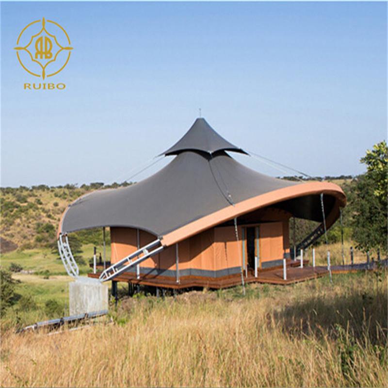 Gyári előre gyártott luxus PVDF membrán anyag acélszerkezetű szálloda ház sátor