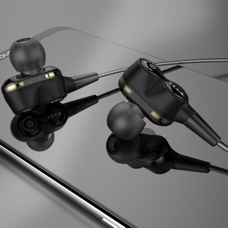 2019 Új kettős illesztőprogram, mély basszus sztereo Hi-Fi fülbe helyezett vezetékes fülhallgató OE18