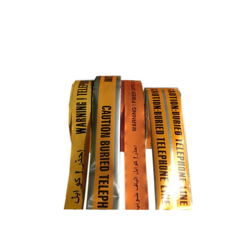 Gyártó kiváló minőségű vágott PVC-barikád-felszíni érzékelhető kábel figyelmeztető alumínium fólia szalaggal