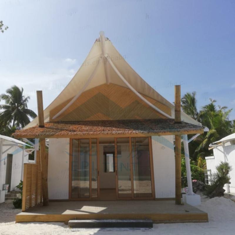 Maldív-szigetek tengerparti szállodai szállássátrai